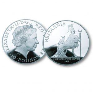 The Queen Elizabeth II 2013 Silver Five Ounce Coi
