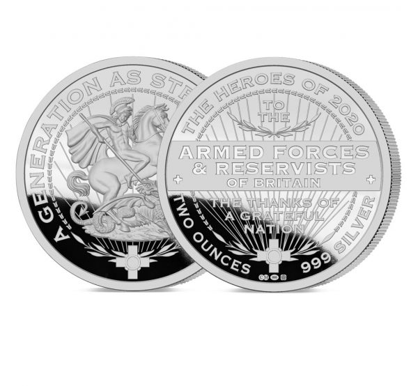 Heroes of 2020: Armed Forces and Reservists 2oz Silver Medal