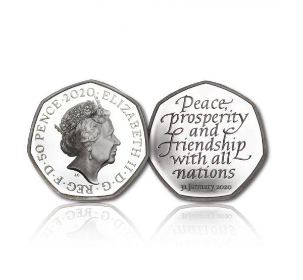 Queen Elizabeth II 2020 Silver Fifty Pence