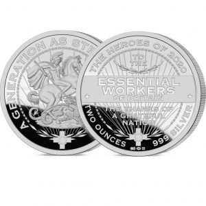 Heroes of 2020: Essential Workers 2oz Silver Medal