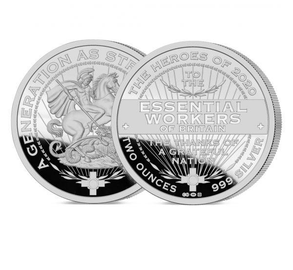 Heroes of 2020: Essential Workers 2oz Silver Medal