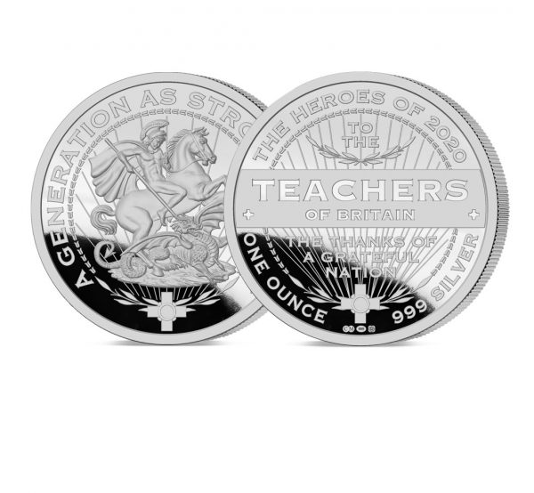 Heroes of 2020: Teachers 1oz medal