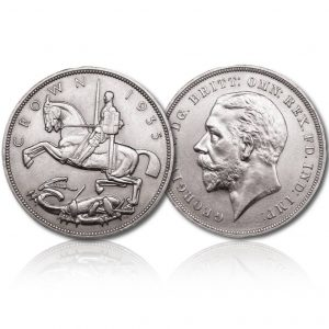 King George V 1935 Silver Crown