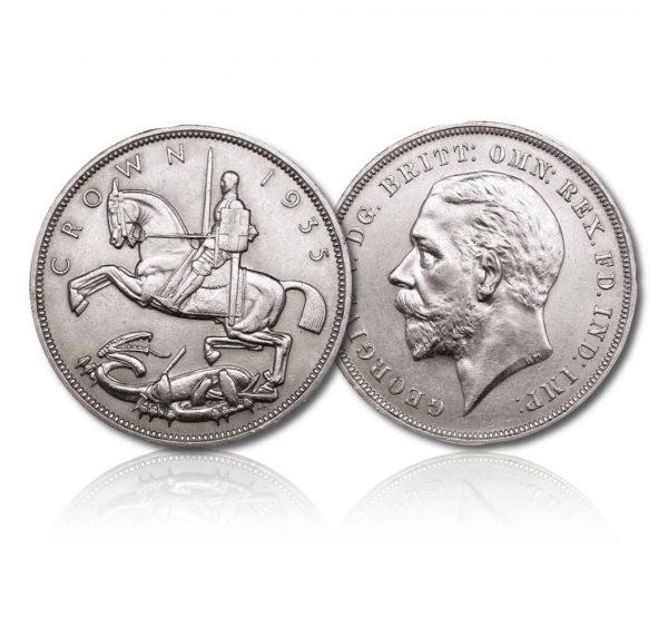 King George V 1935 Silver Crown