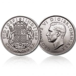 King George V 1937 Silver Crown