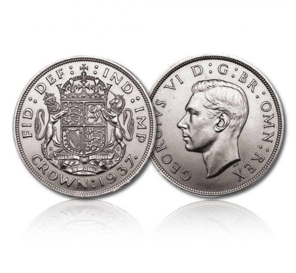 King George V 1937 Silver Crown