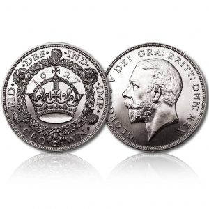 King George V 1927 Proof Silver Crown