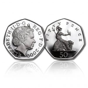 Old Definitive Silver Fifty Pence
