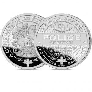 Heroes of 2020: Police 2oz Silver Medal