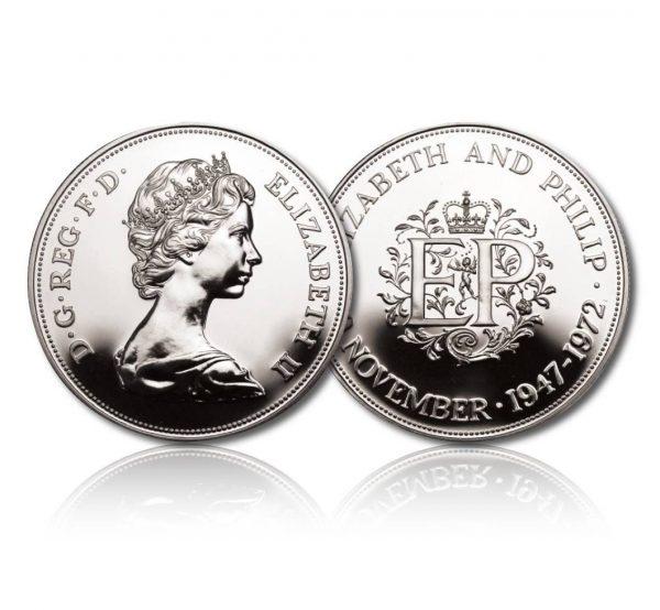 Queen Elizabeth II 1972 Silver Crown