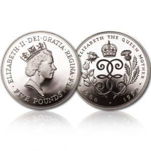 Queen Elizabeth II 1990 Silver Crown
