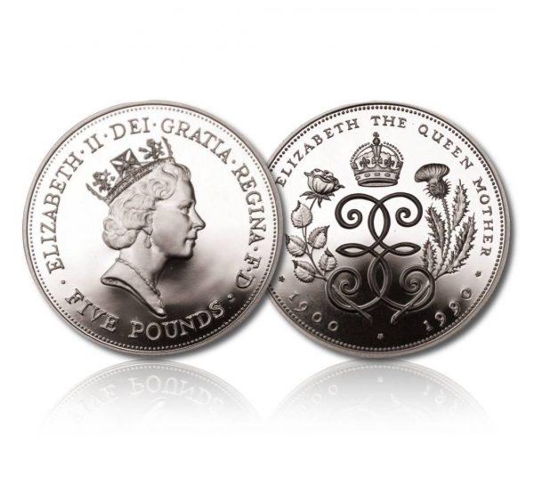 Queen Elizabeth II 1990 Silver Crown