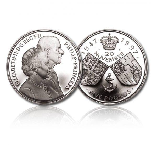 Queen Elizabeth II 1997 Silver Crown