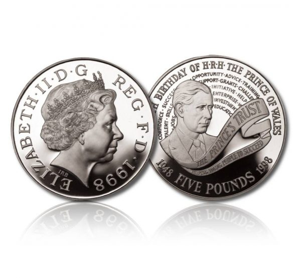 Queen Elizabeth II 1998 Silver Crown