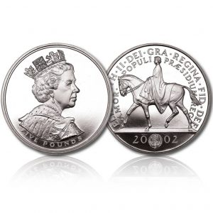Queen Elizabeth II 2002 Silver Crown
