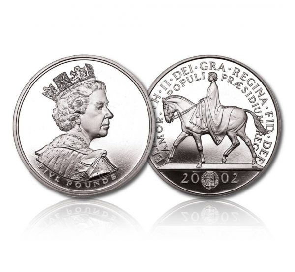 Queen Elizabeth II 2002 Silver Crown