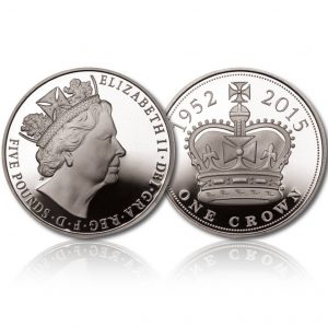 Queen Elizabeth II 2015 Silver Crown