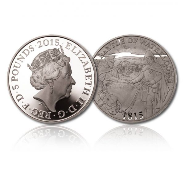 Queen Elizabeth II 2015 Silver Crown - The 200th Anniversary of the Battle of Waterloo