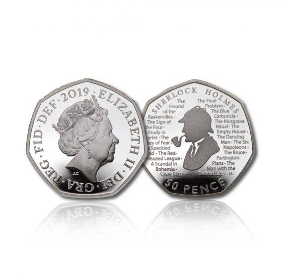 Queen Elizabeth II 2019 Sherlock Holmes Silver Fifty Pence