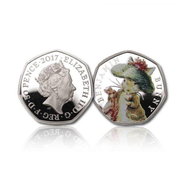 The 2017 Beatrix Potter Benjamin Bunny Silver 50 Pence