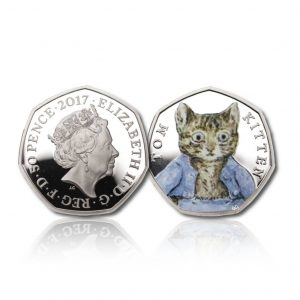 The 2017 Beatrix Potter Tom Kitten Silver 50 Pence