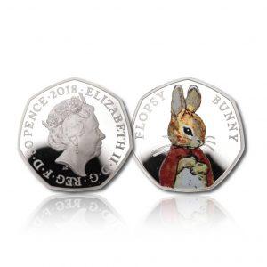 The 2018 Beatrix Potter Flopsy Bunny 50 Pence