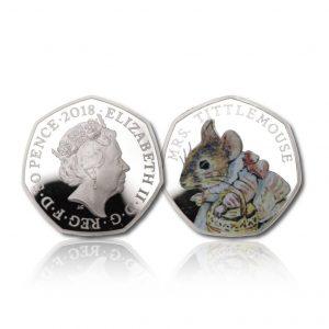 The 2018 Beatrix Potter Mrs Tittlemouse 50 Pence