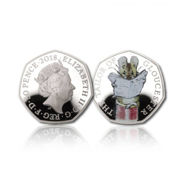 The 2018 Beatrix Potter Tailor of Gloucester 50 Pence