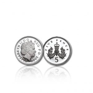 The Old Definitive Silver Five Pence