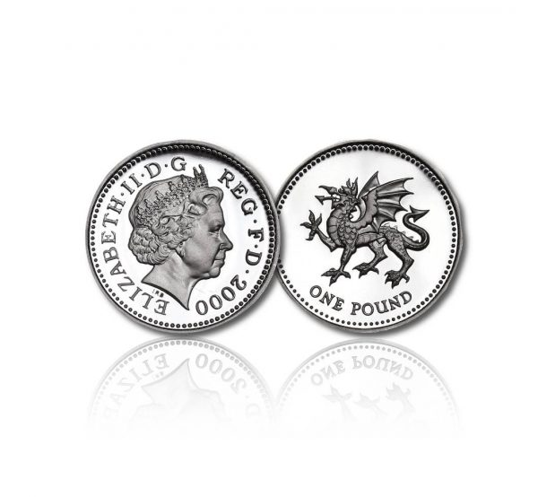 Welsh Dragon Silver Pound