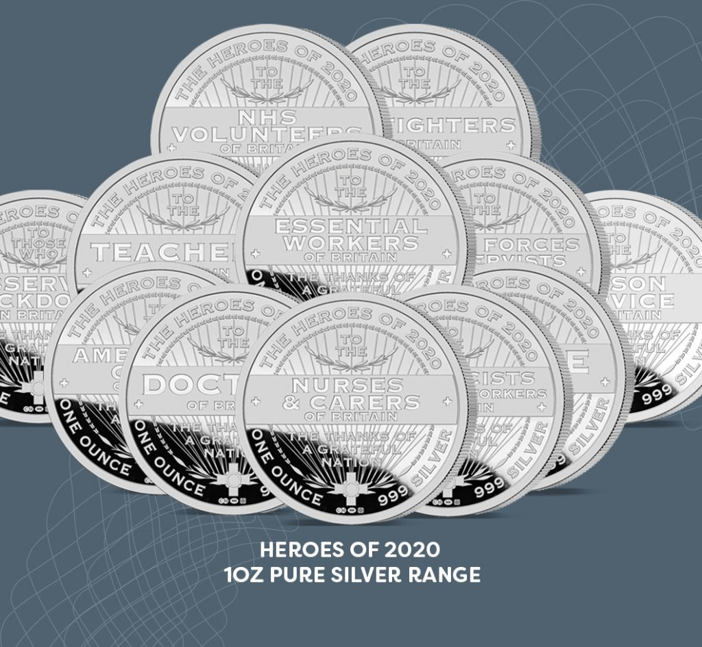 Heroes of 2020 oz Pure Silver Range
