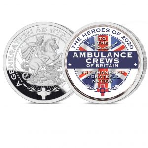 Heroes of 2020: Ambulance Crews Pure Silver Layered Medal