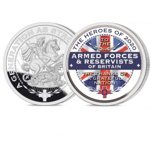 Heroes of 2020: Armed Forces and Reservists Pure Silver Layered Medal