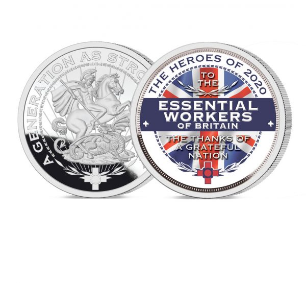 Heroes of 2020: Essential Workers Pure Silver Layered Medal