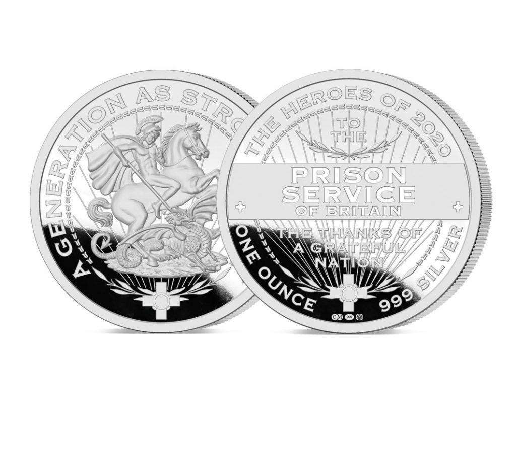 Heroes of 2020 Prison Services Pure Silver 1`oz Silver Medal