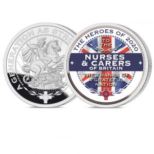 Heroes of 2020: Nurses and Carers Pure Silver Layered Medal