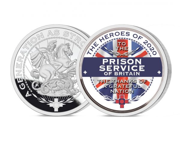 Heroes of 2020: Prison Service Pure Silver Layered Medal