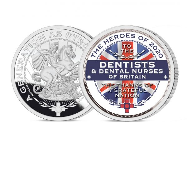 Heroes of 2020 Dentists Pure Silver Layered Medal