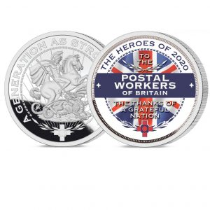 Heroes of 2020 Postal Workers ure Silver Layered Medal