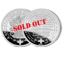 Heroes of 2020 One Kilo Medal - SOLD OUT